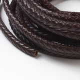 Coconut Brown Braided Bolo Leather Cord -5mm