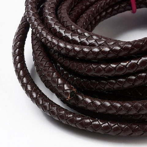 Buy the 6mm thick braided round bolo leather cord we call coconut brown. Also available in other colors and size options from Rebelroad.co.za online in South Africa