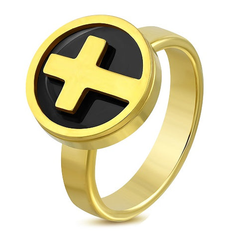 Cross Circle Cocktail Ring - Rings - Rebelroad.co.za
