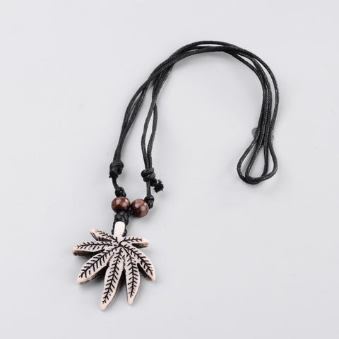 Da Leaf Wax cord Necklace - Neckwear - Rebelroad.co.za
