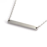 Delicate Women's Engravable Steel Pendant Necklace - Neckwear - Rebelroad.co.za
