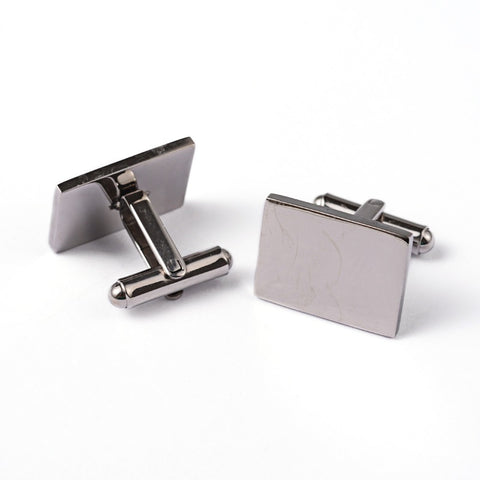 Custom Engravable Plain Rectangular Cufflinks - Cuff Links - Rebelroad.co.za