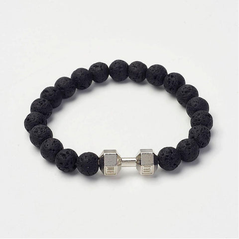 Fit Life Lava Bead Bracelet - Bracelets - Rebel Road