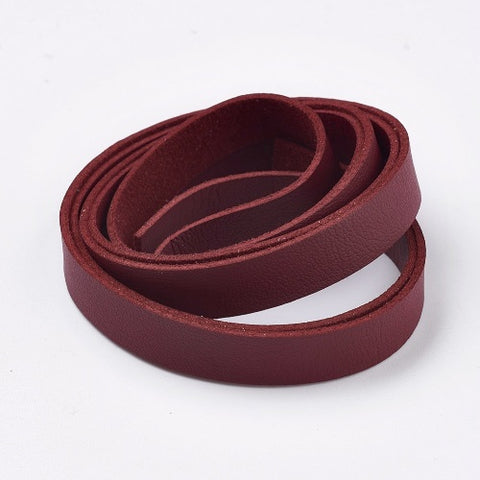 Flat Red Brown Faux Suede Leather Cord -10 * 2mm