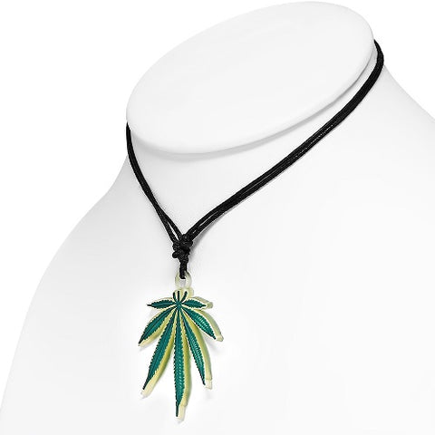 Ganja Marijuana Leaf Necklace - Neckwear - Rebelroad.co.za