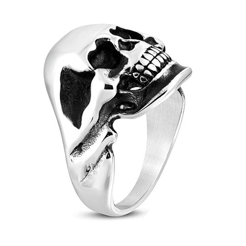 Ghost Skull Biker Ring - Rings - Rebelroad.co.za