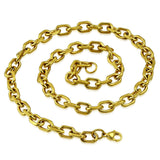 Gold Color Marine Link Chain Necklace - Neckwear - Rebelroad.co.za