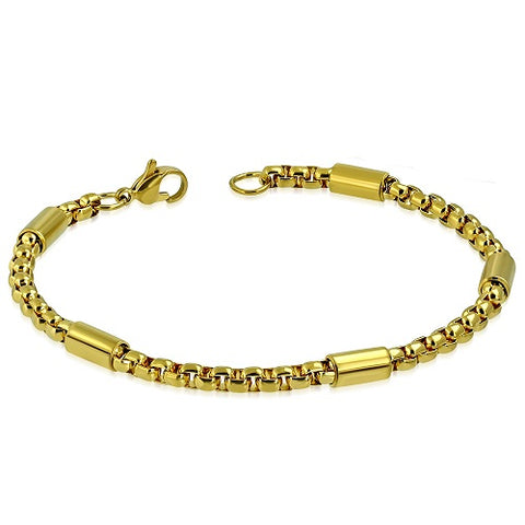 Golden Rolo Link Chain Bracelet - Bracelets - Rebel Road