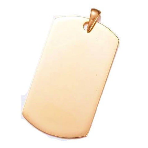 Golden Tag Pendant for Engraving - Pendants - Rebel Road