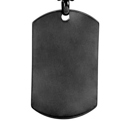 Gunmetal Tag Pendant for Engraving - Pendants - Rebel Road