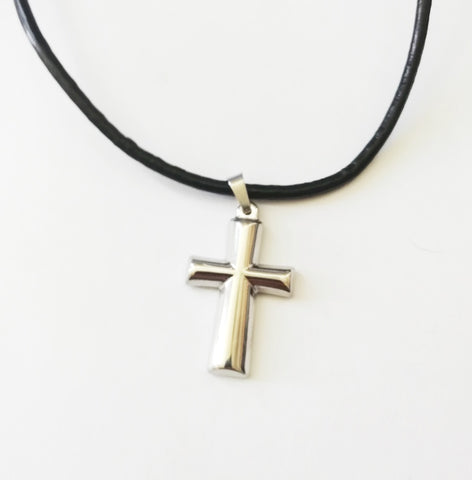 Half Round Cross Necklace - Neckwear - Rebelroad.co.za