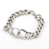 Handcuff Curb Chain Bracelet - Bracelets - Rebel Road