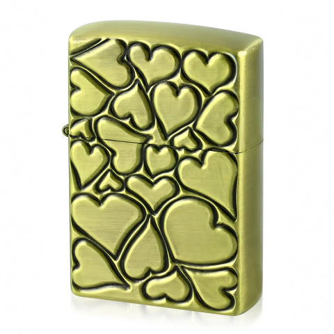 Heart Refillable Flip Top Lighter - Lighters - Rebelroad.co.za