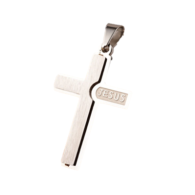 Jesus Embossed Cross Pendant