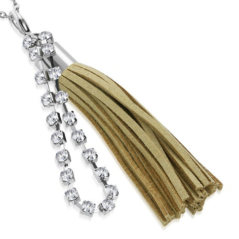 Beige Tassel Charm Pendant - Pendants - Rebelroad.co.za