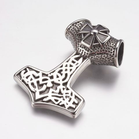Maltese Cross Thor's Hammer Pendant - Pendants - Rebelroad.co.za
