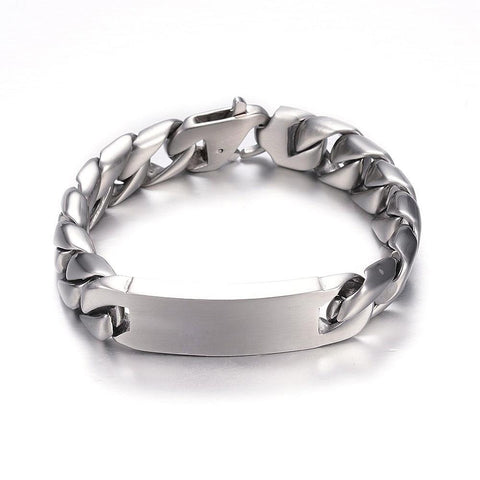 Stainless Shine Curb ID Bracelet - Bracelets - Rebel Road