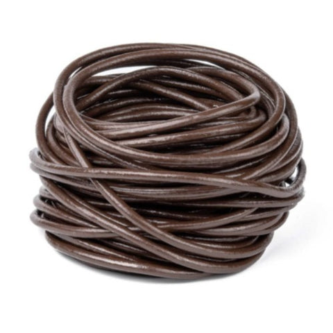 Medium Brown Cowhide Leather Cord -3mm