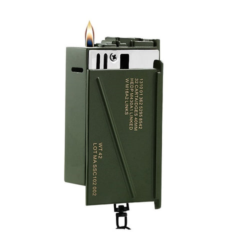 Military Surplus Ammo Can Refillable Lighter & Key Chain - Lighters - Rebelroad.co.za