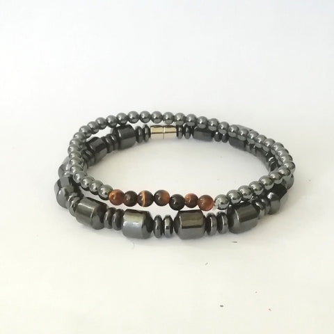 Million Gunmetal Bead Bracelet