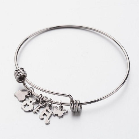 Multi Charm Adjustable Bangle
