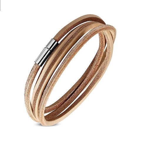 Multi Wrap Genuine Natural Leather Bracelet - Bracelets - Rebelroad.co.za