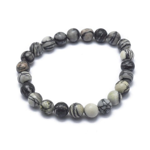 Buy Netstone bead bracelet in grey colour from rebelroad.co.za