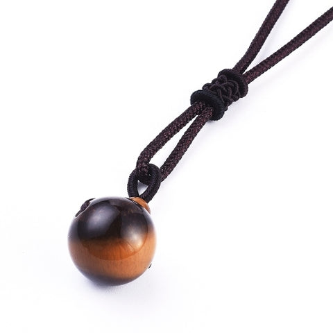 Natural Tiger Eye Pendant Necklace
