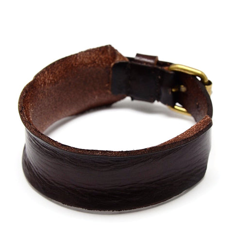 Curl Edge Brown Leather Bracelet - Bracelets - Rebel Road