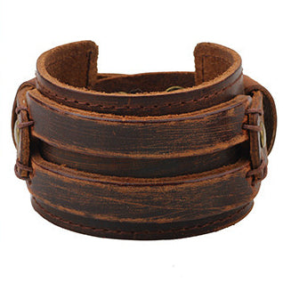 Brown Wide Bracelet - Bracelets - Rebel Road