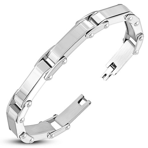 Panther Link Fold Over H Clasp Closure Bracelet - Bracelets - Rebel Road