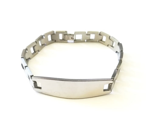 Personalize ID Engravable Stainless Bracelet - Bracelets - Rebel Road