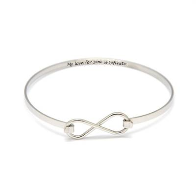 Bangle With Infinity Sign Clasp