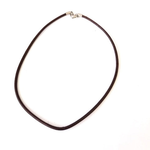 Buy the plain Round Leather cord necklace online in various sizes and colors like black, medium brown, dark brown or natural brown from rebelroad.co.za