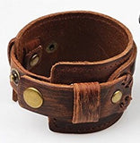 Distressed Brown Wide Bracelet - Bracelets - Rebel Road