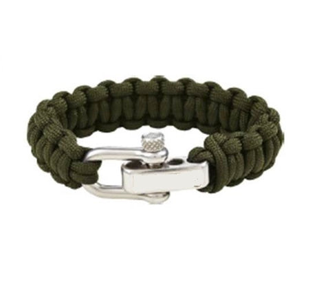 Green Survival Paracord Bracelet - Bracelets - Rebelroad.co.za