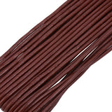Red Brown Cowhide Leather Cord -3mm
