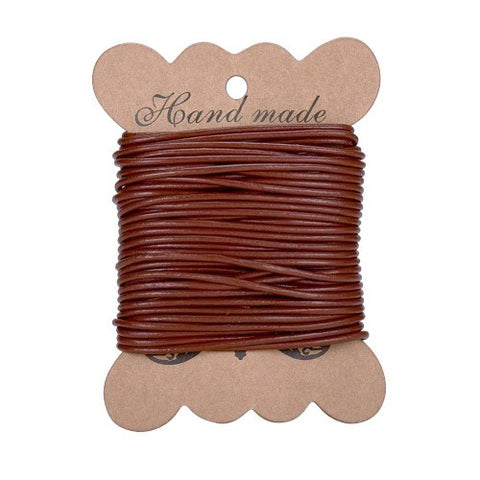 Rich Brown Cowhide Leather Cord -2mm