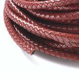Saddle Brown Braided Bolo Leather Cord -6mm
