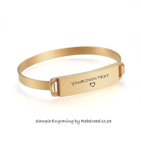 Bangle with Engravable ID Plate