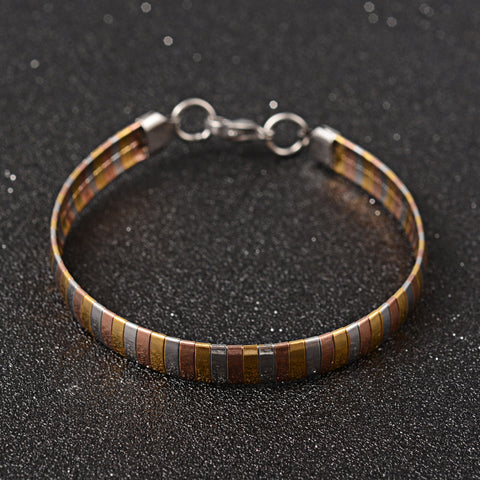 Silver Copper and Gold 3-Tone Stainless Steel Bracelet - Bracelets - Rebel Road