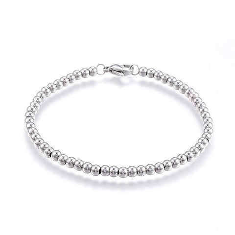 Stainless 4mm Ball Chain Bracelet - Bracelets - Rebelroad.co.za