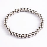 Stainless Steel Beaded Stretch Bracelet - Bracelets - Rebel Road