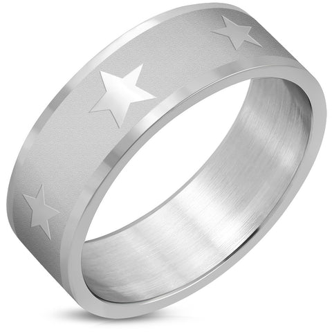 Star Flat Band Ring - Rings - Rebelroad.co.za