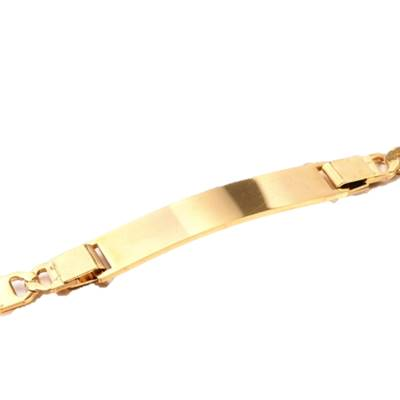 Gold Tone ID Engravable Bracelet - Bracelets - Rebelroad.co.za
