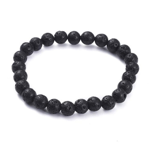 The Plain Lava Bead Bracelet