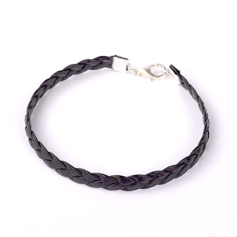 Thin Braided Leather Bracelet - Bracelets - Rebel Road