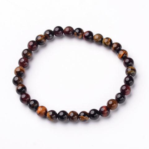 Tiger Eye Bead Bracelet - Bracelets - Rebel Road