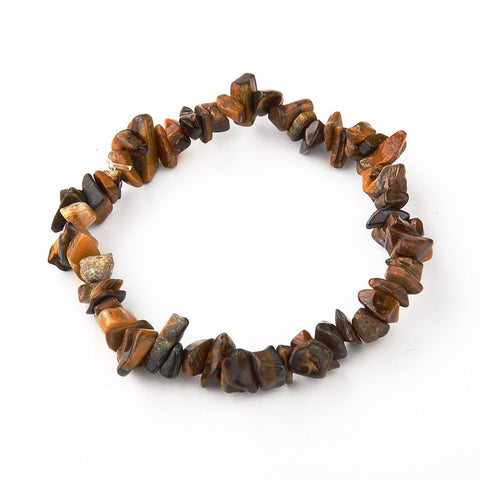 Tiger Eye Chip Bracelet - Bracelets - Rebel Road