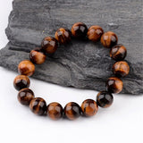 Tiger Eye Large Bead Bracelet - Bracelets - Rebel Road